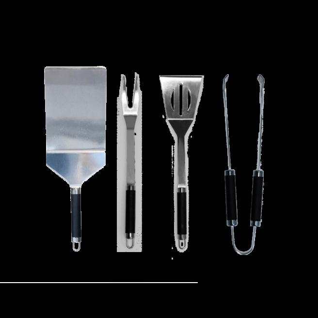 Pack of 4 stainless steel utensils