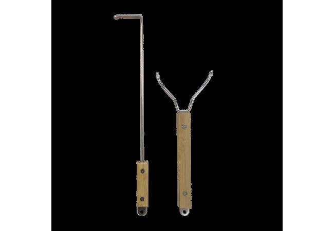 Pacote de 2 utensílios de aço inoxidável