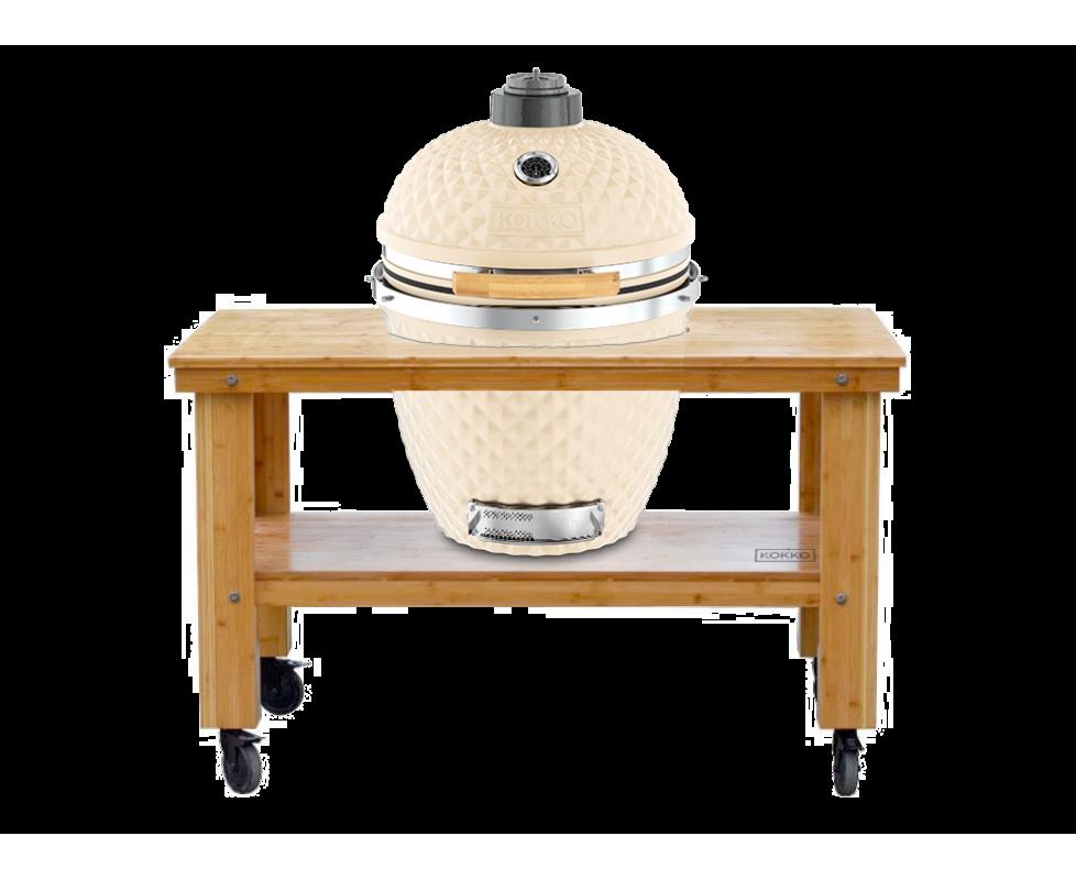 Outdoorküche Holz Xl : Kokko xl mit xl grillwagen aus holz kamado barbecue grill