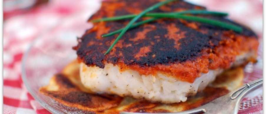 Cod in pesto crust