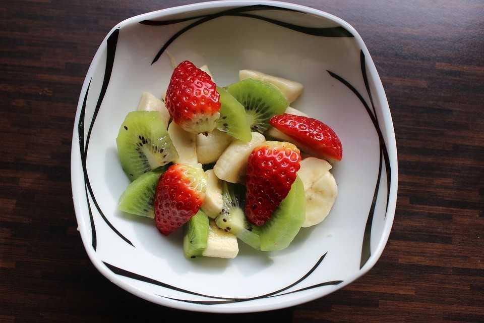 Salade de fruits fumés
